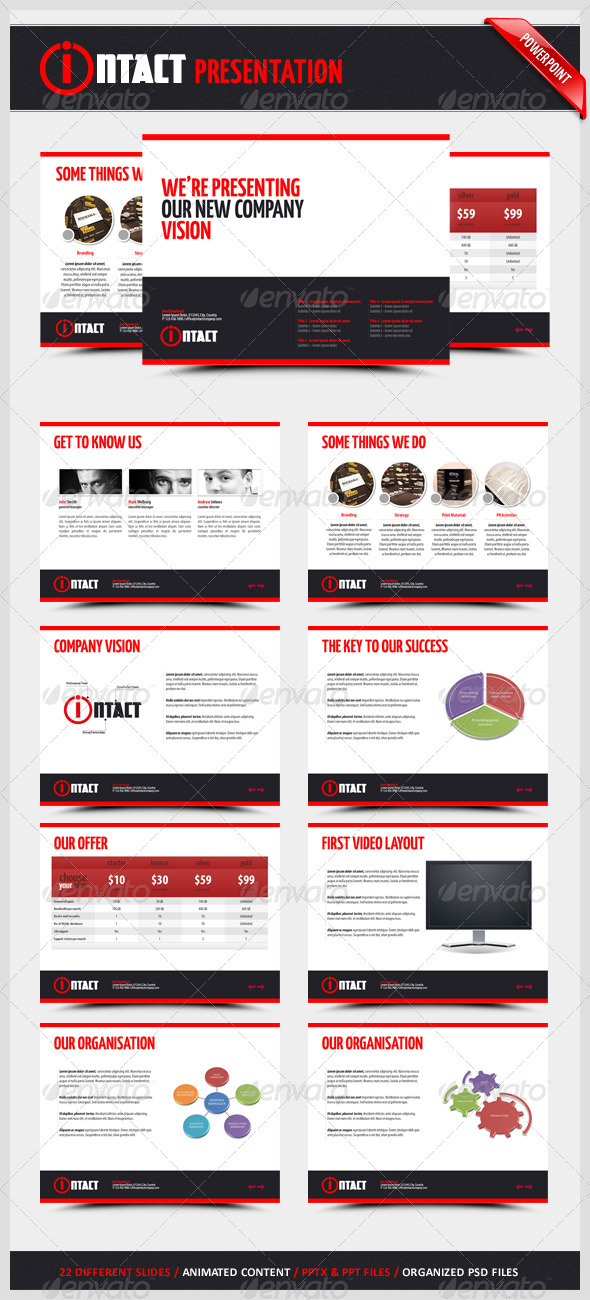 GraphicRiver Intact Powerpoint Presentation 884226