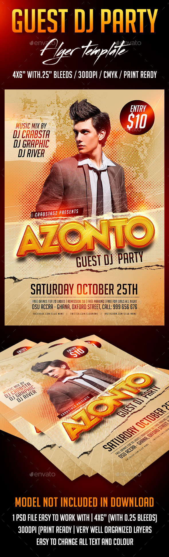 GraphicRiver Guest Dj Party Flyer Template 8829660