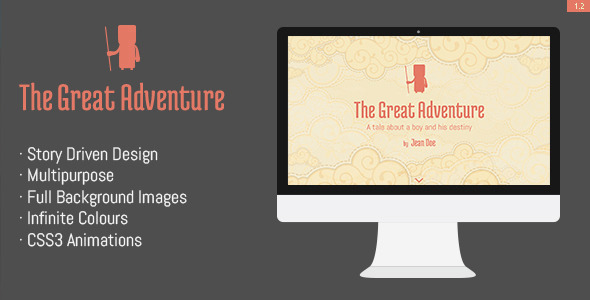 The Great Adventure- Full screen responsive theme