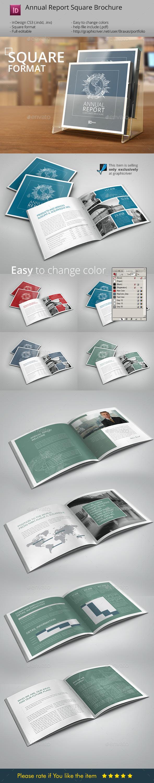 GraphicRiver Annual Report InDesign Square Brochure 8837441