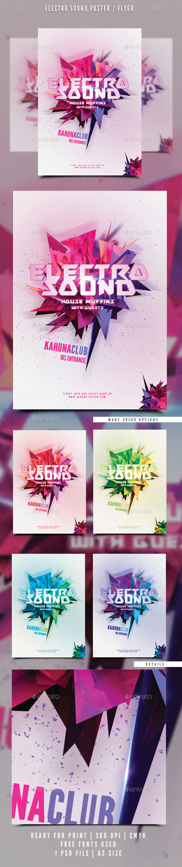 GraphicRiver Electro Sound Poster Flyer 02 8837461