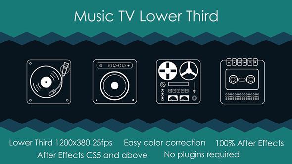 Music TV Lower Third