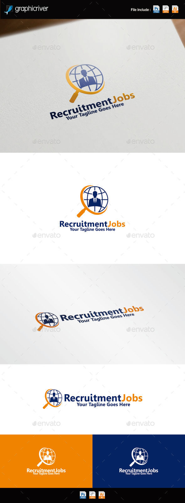 GraphicRiver Recruitment Jobs Logo 8837732
