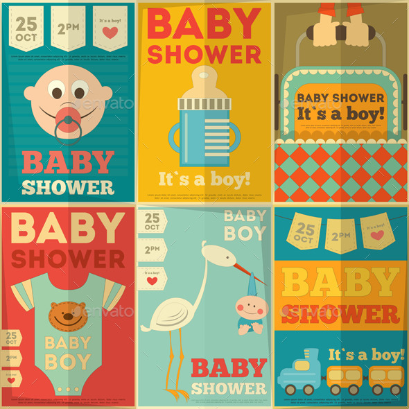 GraphicRiver Baby Shower Posters 8837867