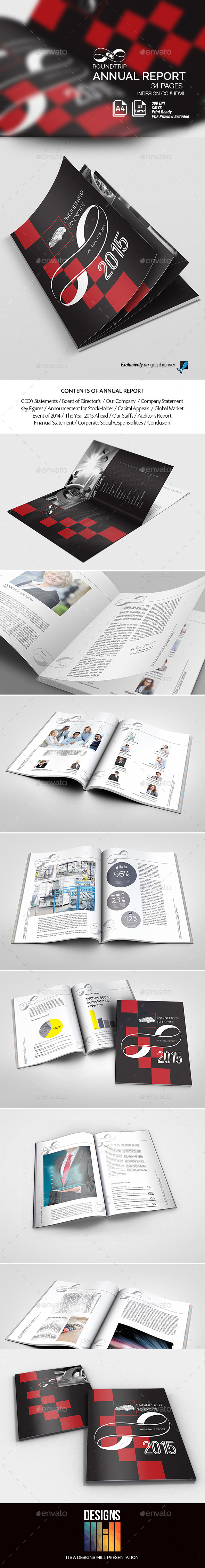 GraphicRiver Round Trip Annual Report 8837925