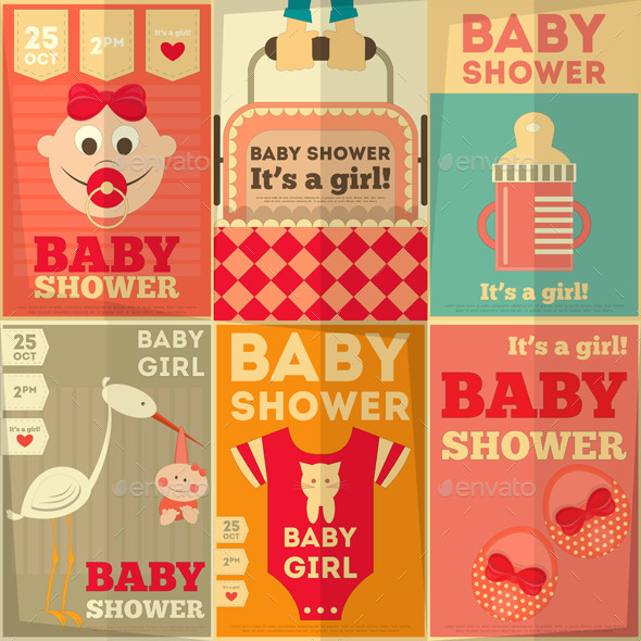 GraphicRiver Baby Shower Posters 8837941