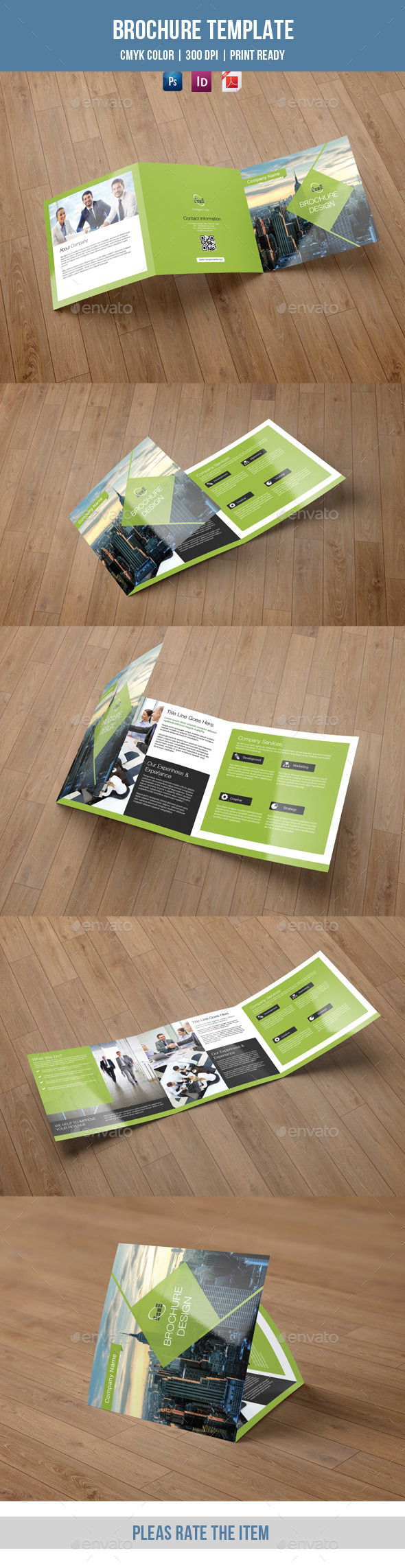 GraphicRiver Square Trifold Brochure for Business-V35 8837987