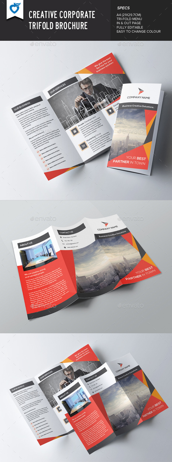GraphicRiver Creative Corporate Trifold 8837996