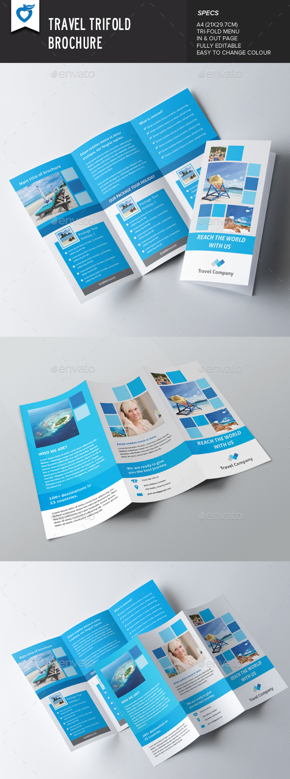 GraphicRiver Travel Trifold Brochure 8838025