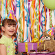 happy little girl with gift cakes and teddy bear birthday party - PhotoDune Item for Sale