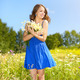Beautiful girl with bunch of camomiles - PhotoDune Item for Sale