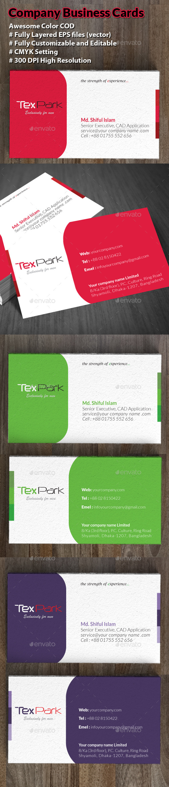 GraphicRiver Company Business Cards 8838171