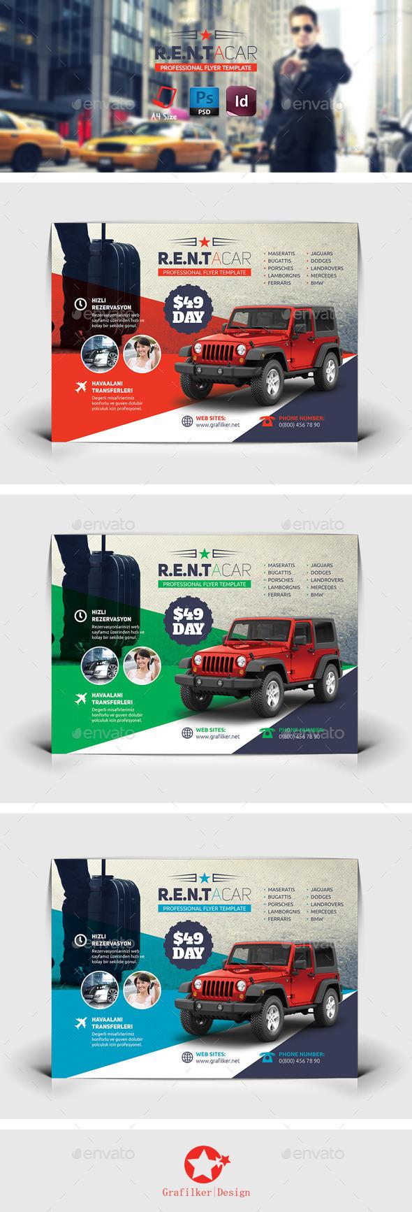 GraphicRiver Rent A Car Flyer Templates 8838464