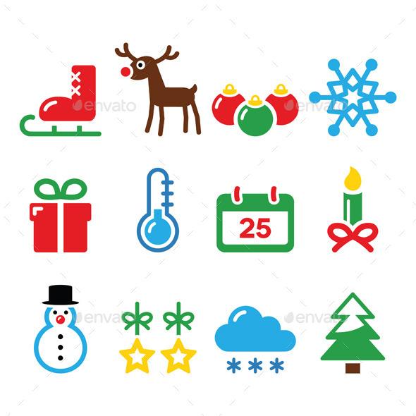 GraphicRiver Christmas Winter Icons Set 8838490
