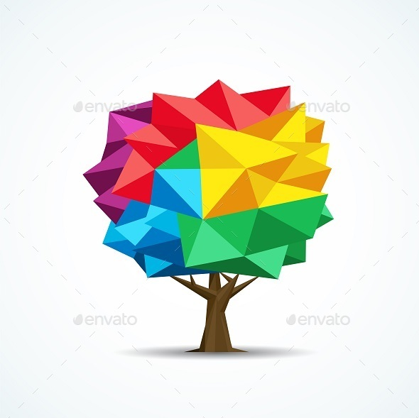 GraphicRiver Colorful Tree Icon 8838530