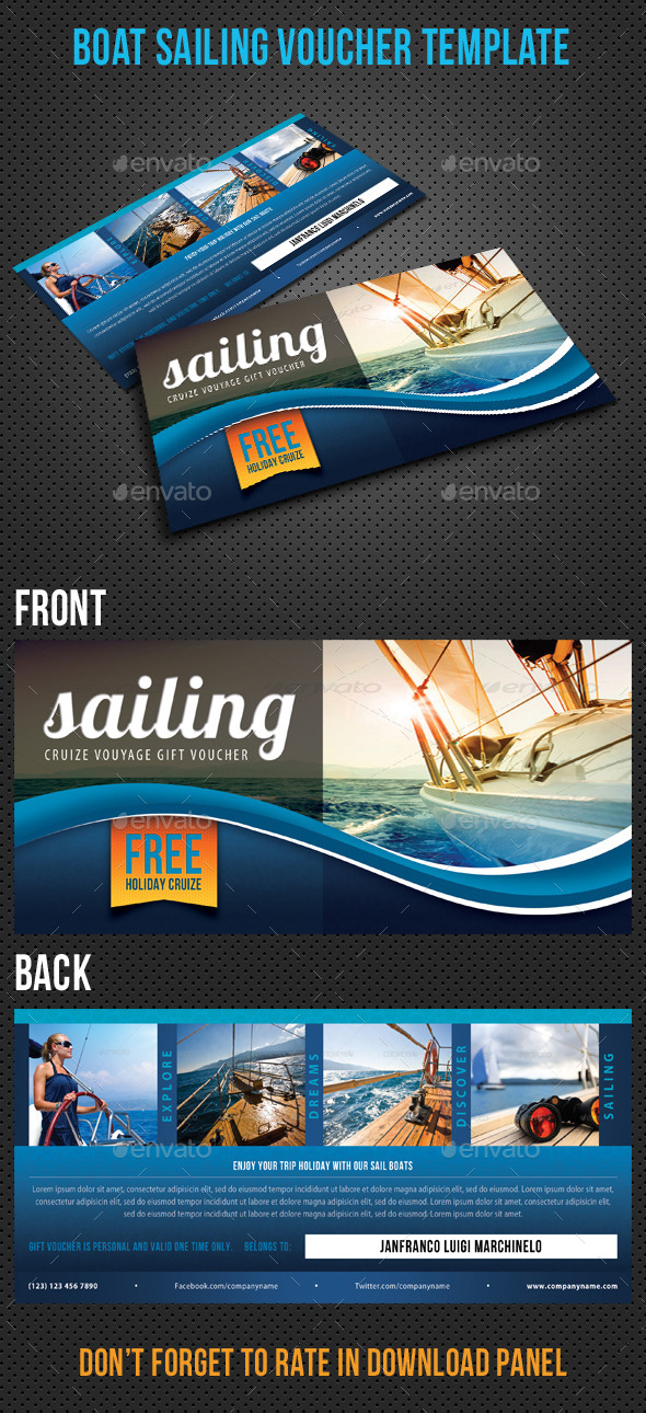 GraphicRiver Boat Sailing Gift Voucher V32 8838572