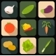 Flat Icons of Vegetables - GraphicRiver Item for Sale