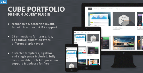 Cube Portfolio - Responsive jQuery Grid Plugin - CodeCanyon Item for Sale
