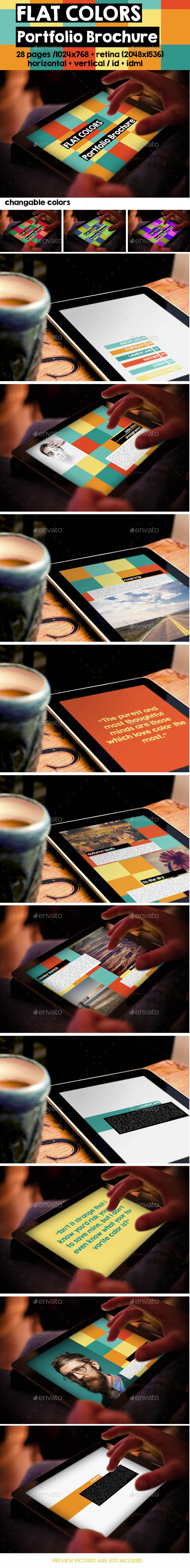 iPad & Tablet Flat Colors Portfolio Brochure