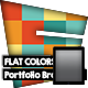 Tablet Flat Colors Portfolio Brochure - GraphicRiver Item for Sale