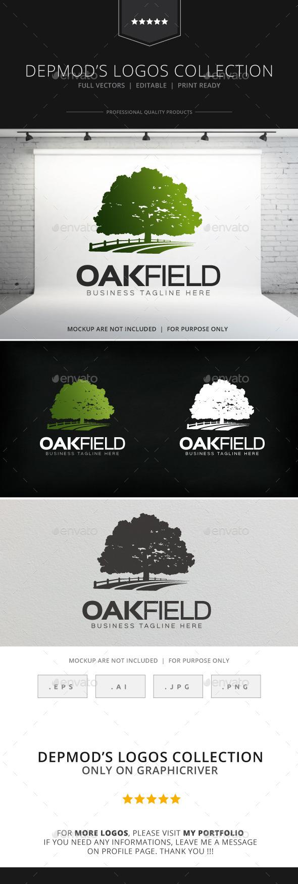 GraphicRiver Oak Field Logo 8838966
