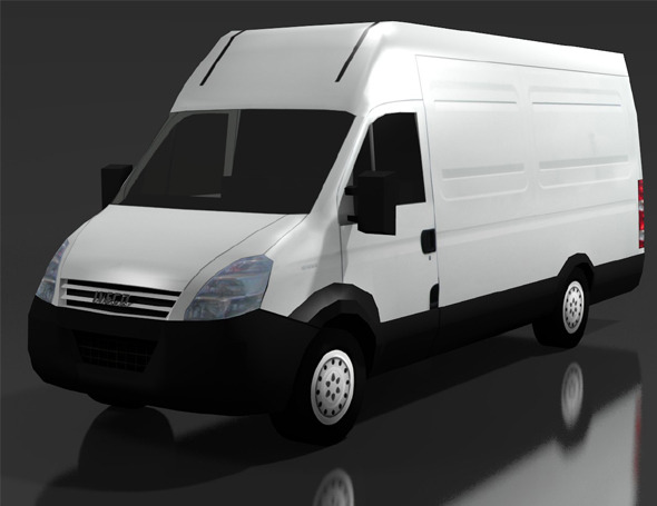 3DOcean LOW POLY IVECO DAILY 50C VAN 8839099