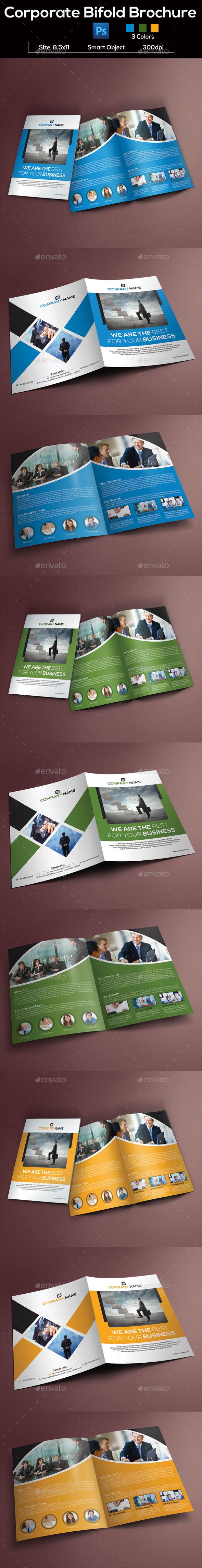 GraphicRiver Corporate Bifold Brochure 8839317
