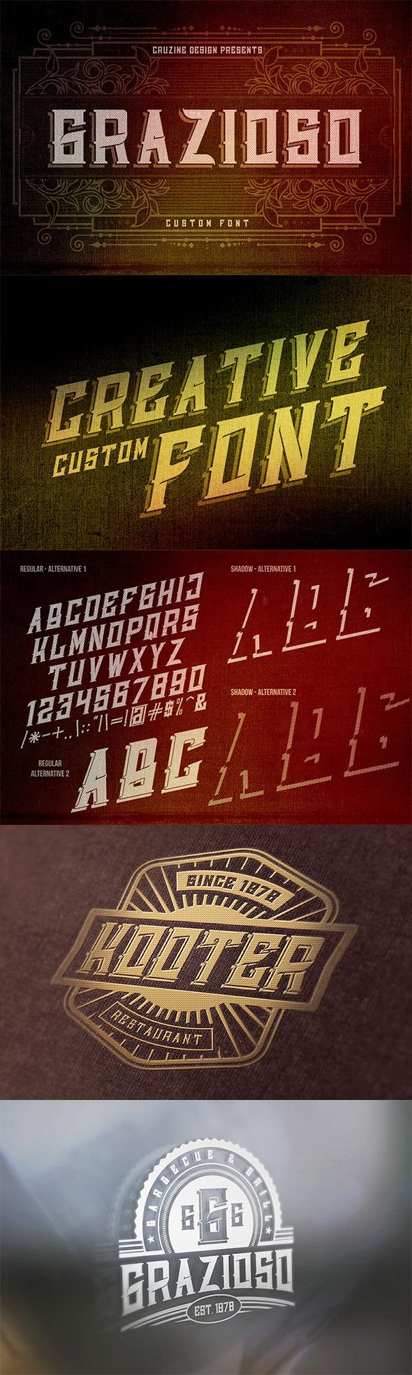 GraphicRiver Grazioso Custom Font 8839395