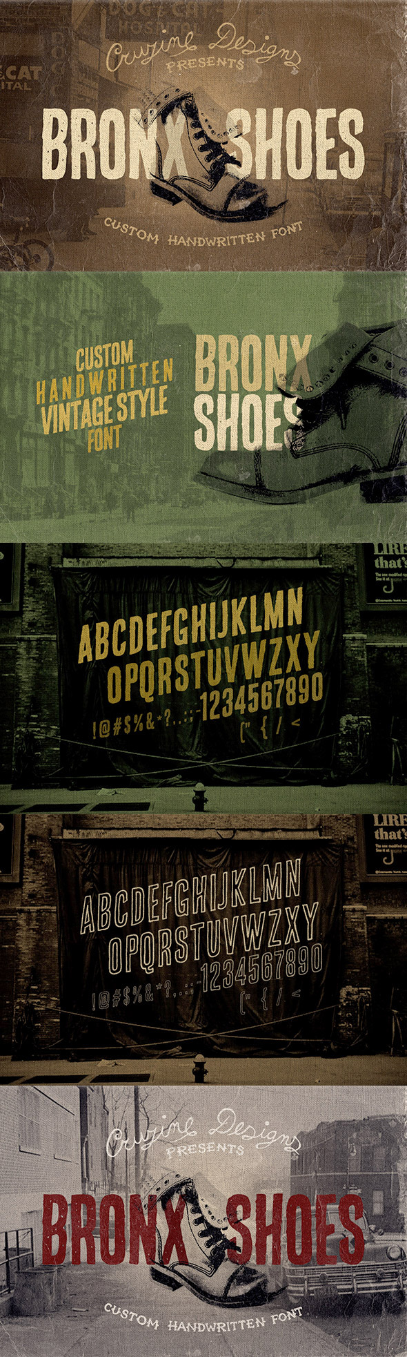 GraphicRiver Bronx Shoes Custom Font 8839902