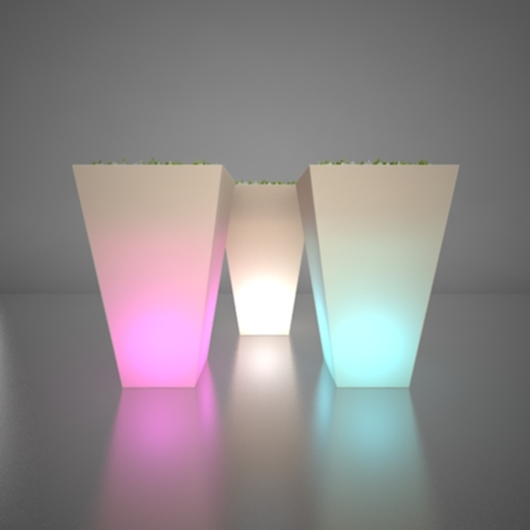 Illuminated Planter 4 - 3DOcean Item for Sale