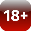 Restriction on age 18+ - red and white icon - PhotoDune Item for Sale
