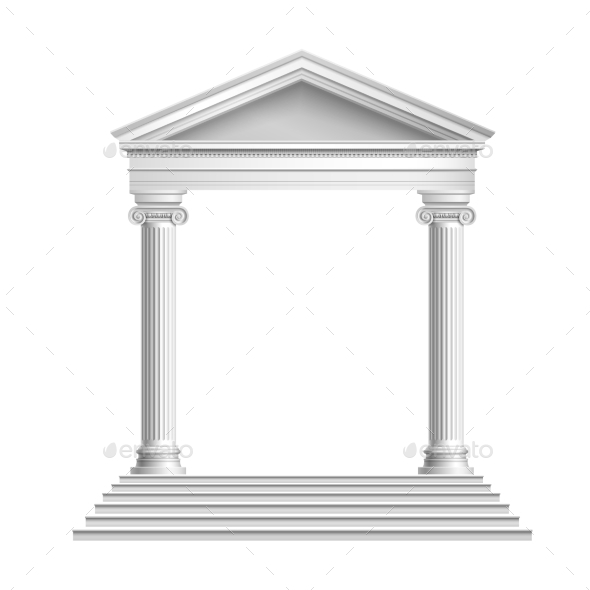 GraphicRiver Temple Front with Columns 8840117