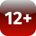 Restriction on age 12+ - red and white icon - PhotoDune Item for Sale