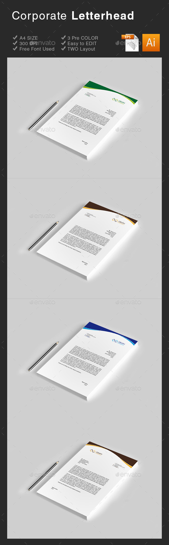 GraphicRiver Corporate Letterhead 8840266