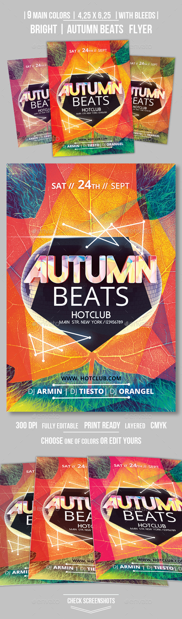GraphicRiver Autumn Beats Flyer Template 8840271
