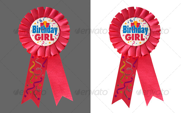 Graphic River Birthday Ribbon Isolated Objects -  Activities & Leisure 37098
