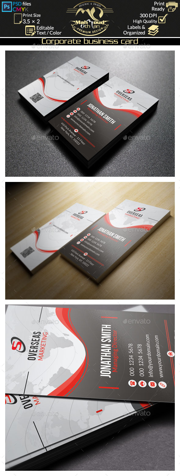 GraphicRiver Corporate Business Card 46 8840401