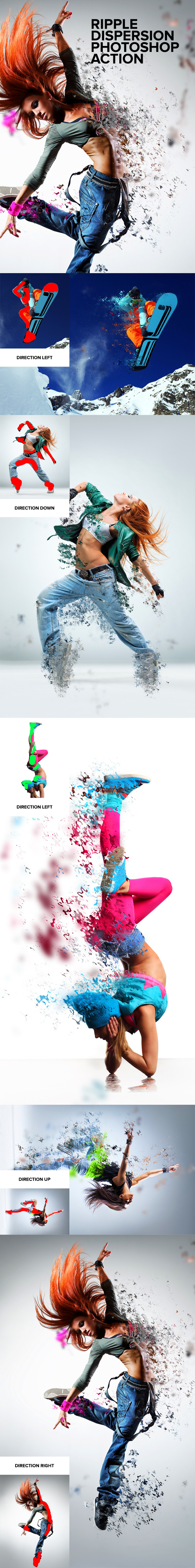 GraphicRiver Ripple Dispersion Photoshop Action 8828273