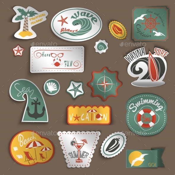 GraphicRiver Travel Stickers Set 8840515