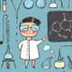 Young Chemist and Laboratory Tools Collection - GraphicRiver Item for Sale