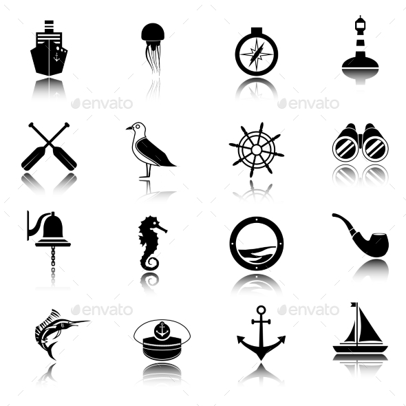 GraphicRiver Nautical Icons Set 8840526