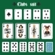 Playing Cards Clubs Set - GraphicRiver Item for Sale