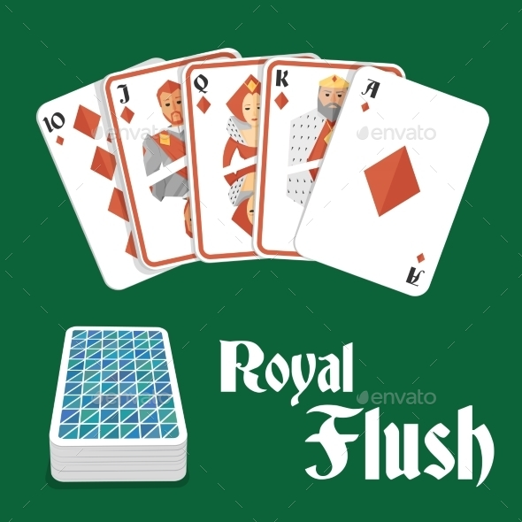 GraphicRiver Poker Hand Royal Flush 8840537