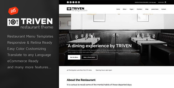 ThemeForest Triven Restaurant & Winery Theme 8782776