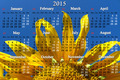 calendar for 2015 year with big sunflower - PhotoDune Item for Sale