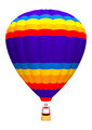 Hot Air Balloon on White  - PhotoDune Item for Sale