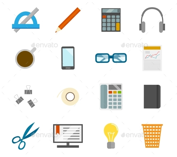 GraphicRiver Office Icons Set 8840906