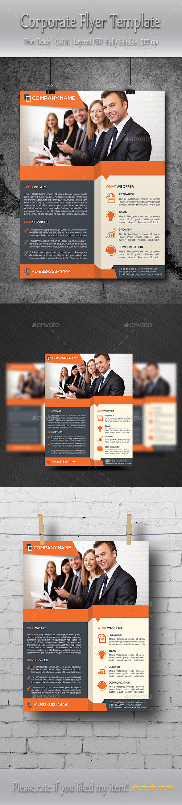GraphicRiver Business Flyer Template 8840924