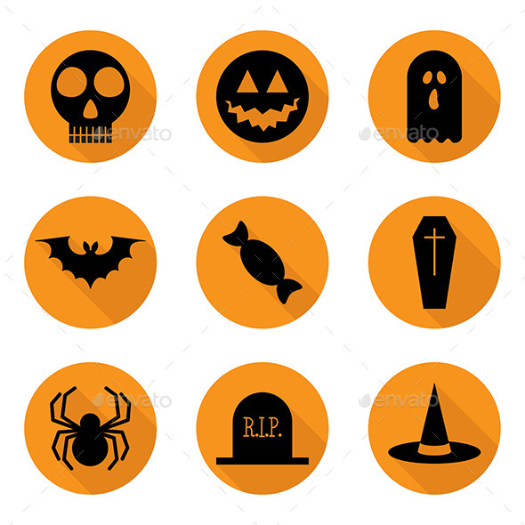 GraphicRiver Halloween Icons Set Vector 8840926