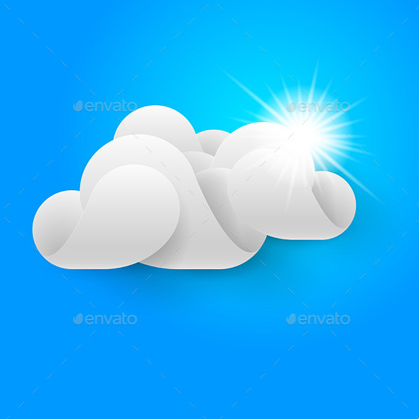 GraphicRiver One White Cloud on Blue Sky 8840954
